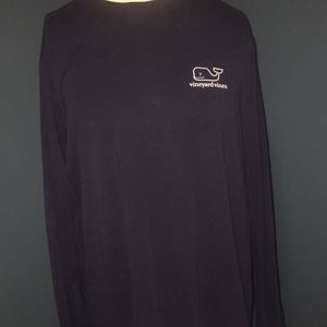 Venues vines men's longsleeve T-shirt navy blue  L